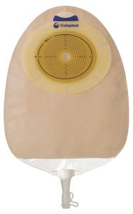 """Image Of SenSura Xpro Non-Convex Extra-Extended Wear Urostomy Pouch Pre-Cut 3/8""""- 3"""" Transparent"""