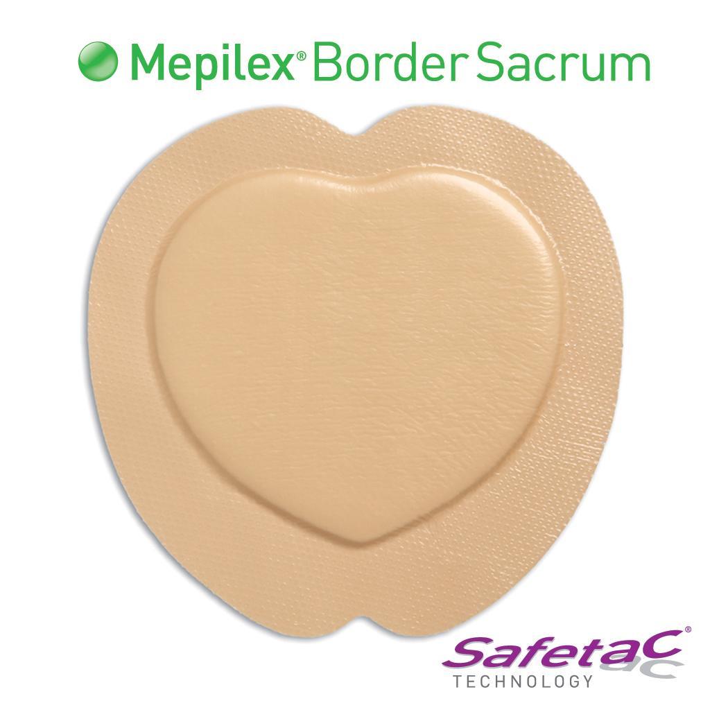 "Image Of Molnlycke Mepilex Border Sacrum Self-Adherent Soft Silicone Foam Dressing, 7-1/5"" x 7-1/5"""