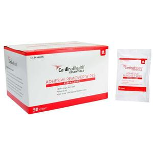 """Image Of Cardinal Health Essentials XL Adhesive Remover Wipes, 4"""" x 4-3/4"""""""