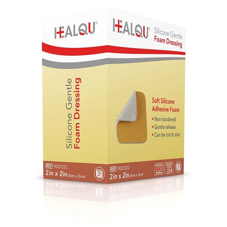 Image Of HEALQU Silicone Gentle Foam Dressing 2in x 2in