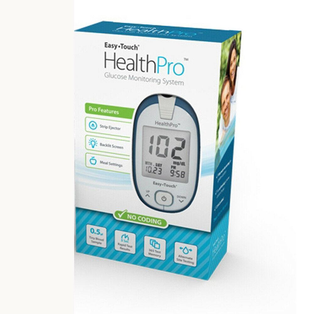 Image Of Health Pro Glucose Meter Kit w/ Backlit Meter