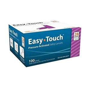 Image Of EasyTouch Pressure Activated Safety Lancets 28G