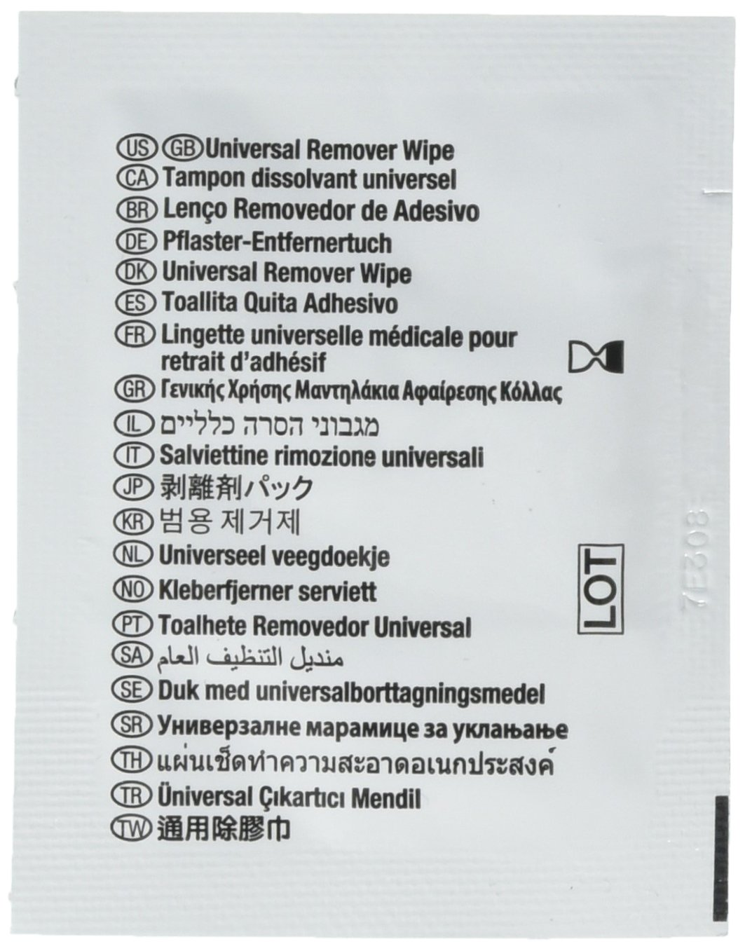 Image Of Adhesive & Barrier Remover Wipes, Box of 50