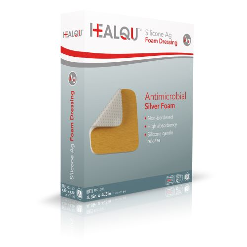 Image Of HEALQU Antimicrobial Silver Foam 4.3 x 4.3