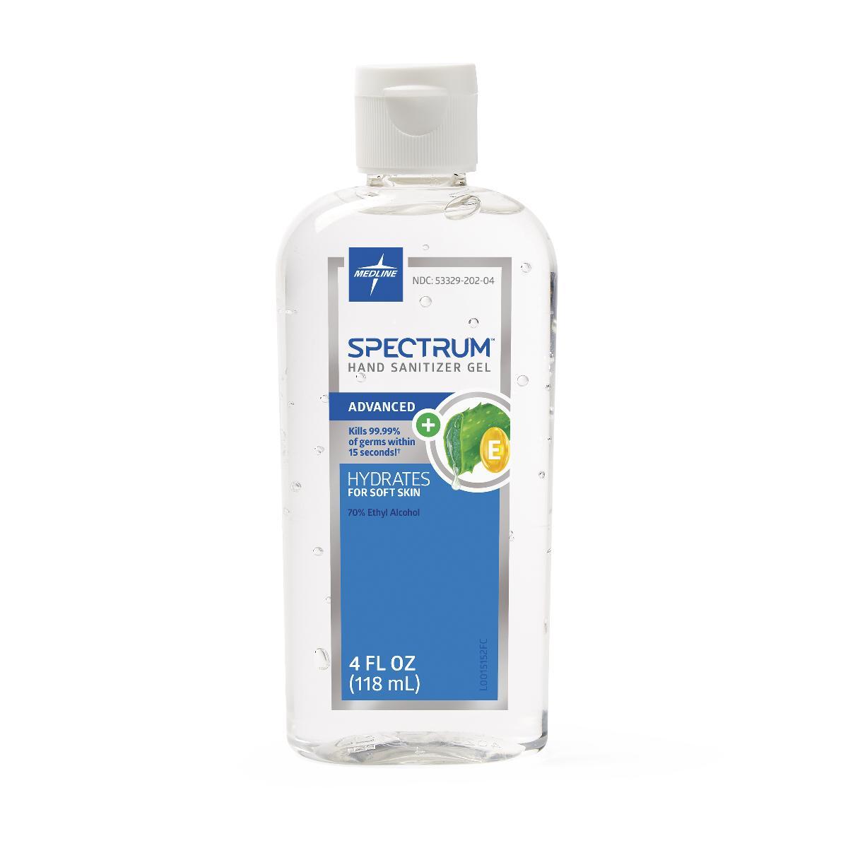 Image Of Spectrum Gel Hand Sanitizer with 70% Ethyl Alcohol, 4 oz.