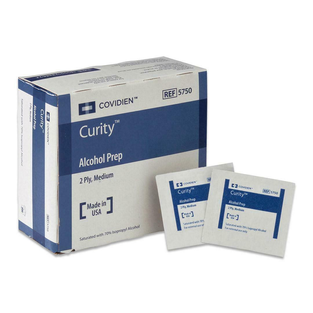 Image Of Curity Alcohol Prep Pad, 2-Ply, Medium (200 count)