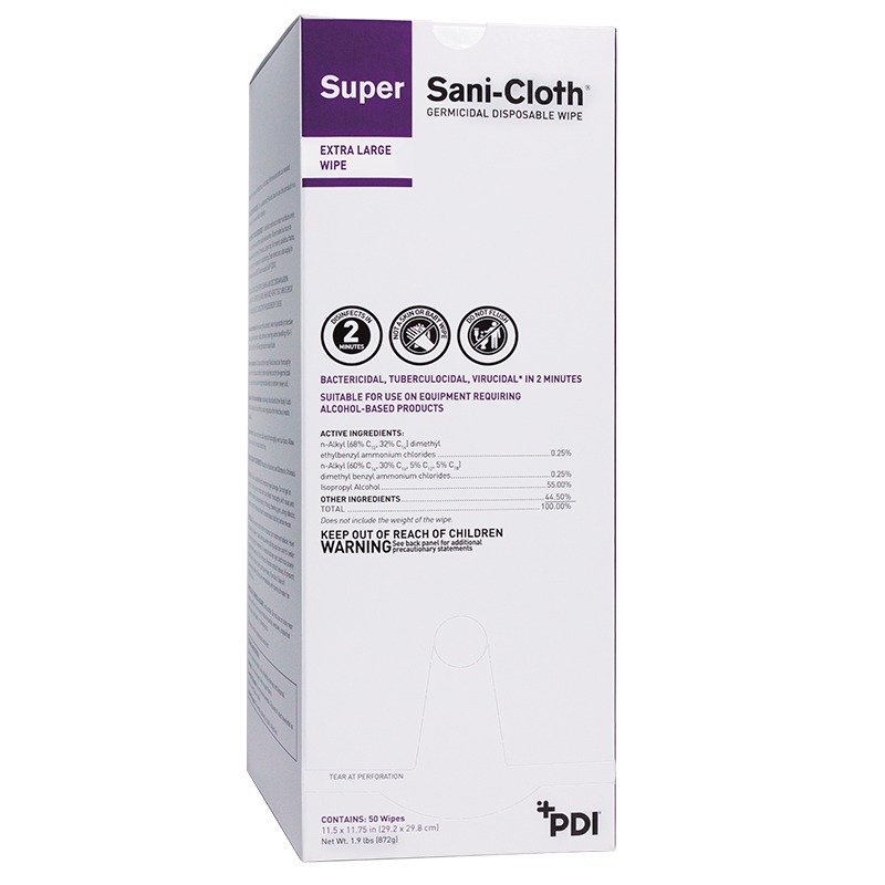Image Of Super Sani-Cloth Germicidal Disposable, Foil Packets Disinfectant wipes,