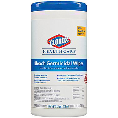 Image Of Clorox Healthcare Bleach Germicidal Wipes 70 Count Canister