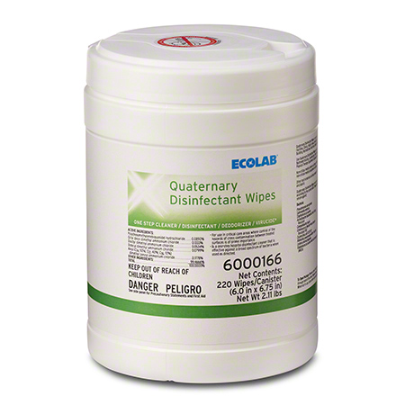 Image Of Quaternary Disinfectant Wipes EPA Approved for Human Coronavirus Ecolab 6000166
