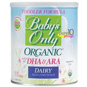 Image Of Babys Only Organic Dairy Toddler Formula with DHA and ARA, 12.7 Oz