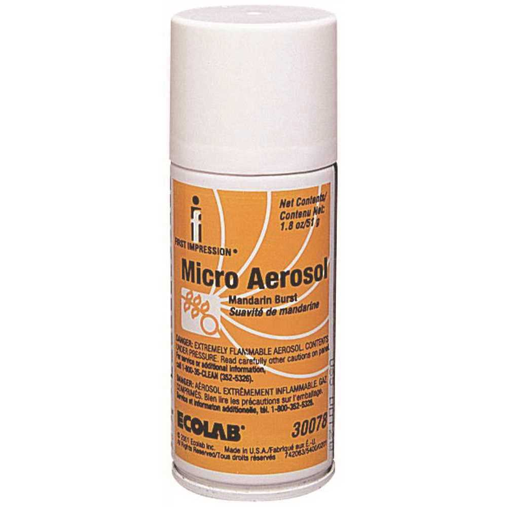 Image Of Micro Aerosol Air Freshener Refill Cans Mandarin Burst Scent, 1.8 oz., NonSterile