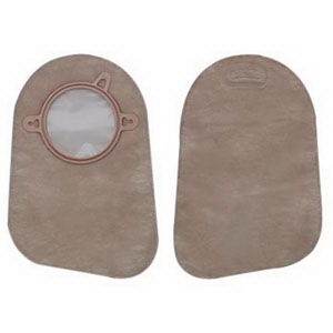 "Image Of New Image Closed End 9"" Mini Pouch with Filter, 2 3/4"" Flange, Beige, Box of 60"