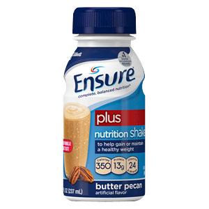 Image Of Ensure Plus Butter Pecan Retail 8oz. Bottle