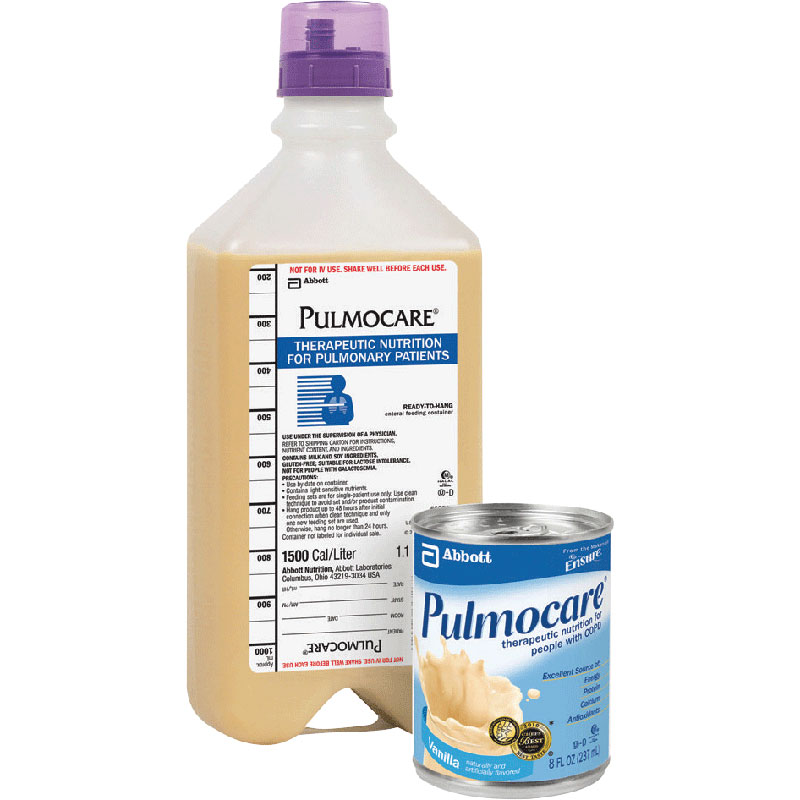 Image Of Pulmocare Institutional 1000 mL Ready to Hang with Safety Screw Connector, Vanilla