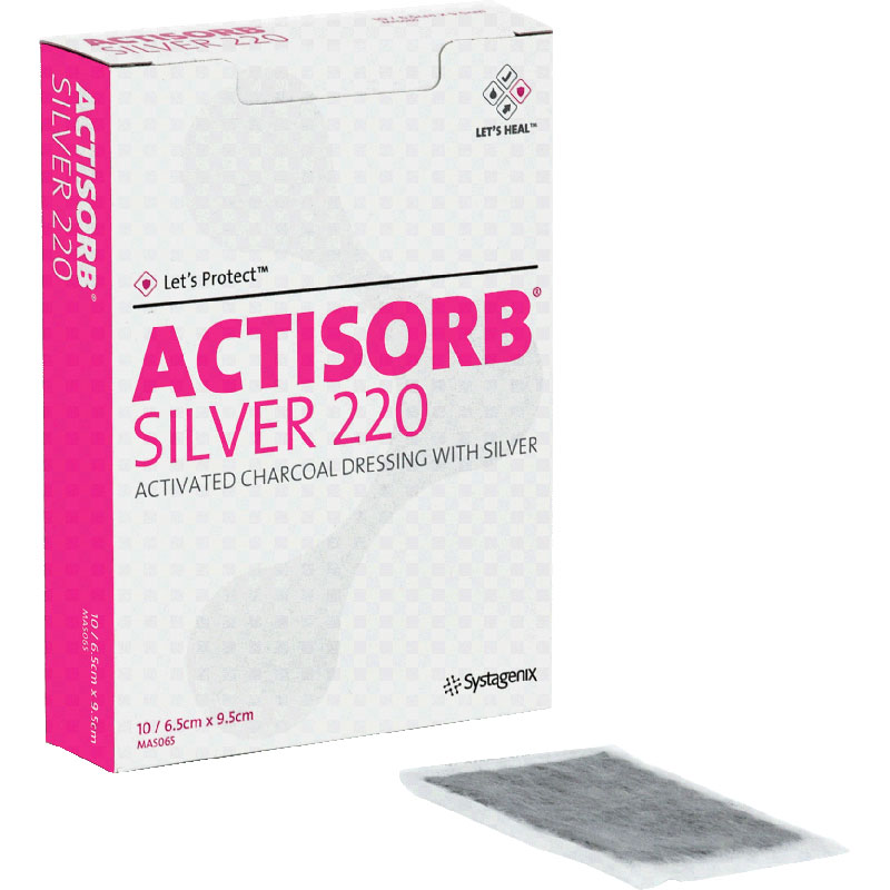 "Image Of ACTISORB Silver Antimicrobial Dressing 2-1/2"" x 3-3/4"""