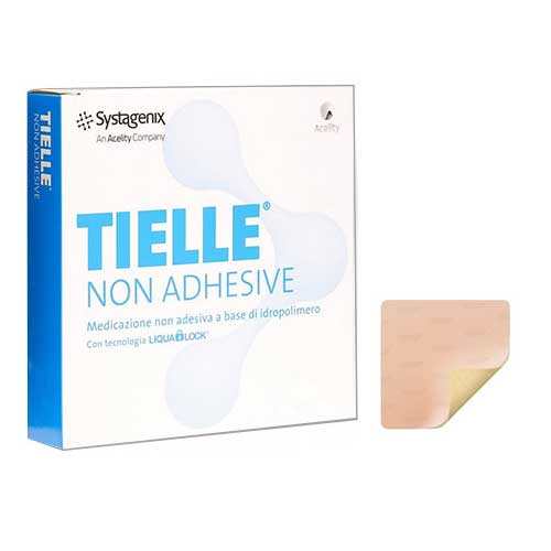 "Image Of TIELLE Essential Non-Adhesive Foam Dressing, 4"" x 4-7/8"""