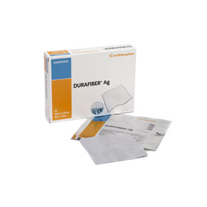 "Image Of Durafiber Ag Gelling Fiber Dressing 4"" x 4-3/4"""