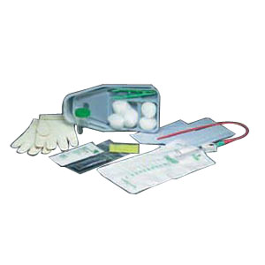 Image Of Bi-Level Tray with Red Rubber Catheter 15 Fr