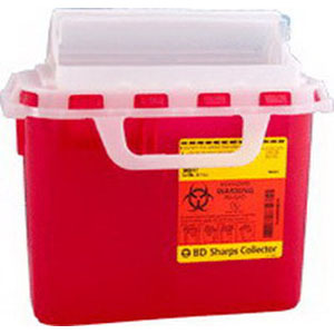 Image Of Guardian Sharps Collector, Horizontal