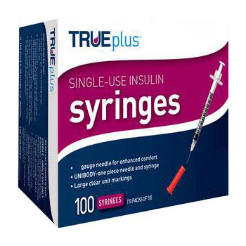 "Image Of Trueplus Single-Use Insulin Syringe, 31G x 5/16"", .3 mL (100 Count)"