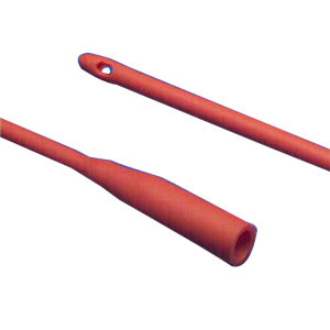 """Image Of Dover Hydrophilic Coated Red Rubber Urethral Catheter 16 Fr 14"""""""