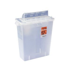 Image Of In-Room Sharps Container 2 Gallon Transparent Red