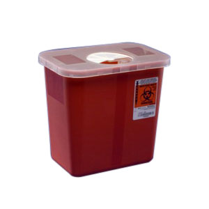 Image Of Multi-Purpose Sharps Container with Rotor Lid 2 Gallon