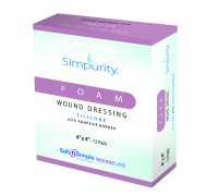 "Image Of Simpurity Foam Wound Dressing Bordered Silicone, 3"" X 3"""