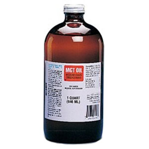 Image Of MCT Oil Medium Chain Triglycerides Unflavored 1 qt Glass Bottle