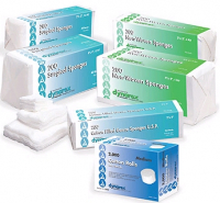 """Image Of Non-Sterile Sugrical Gauze Sponge 3"""" x 3"""", 12-Ply"""
