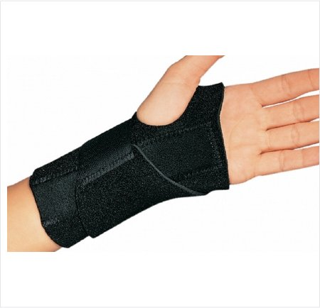 Image Of Wrist Splint Cinch-Lock Neoprene Right Hand Black One Size Fits Most