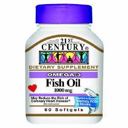 Image Of Dietary Supplement 21st Century 1000 mg Strength Softgel 60 per Bottle