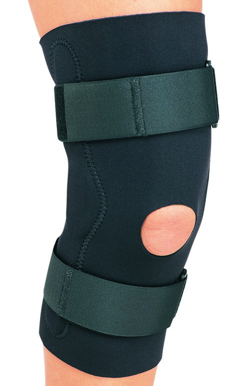 Image Of Hinged Knee Support PROCARE Large Hook and Loop Closure Left or Right Knee