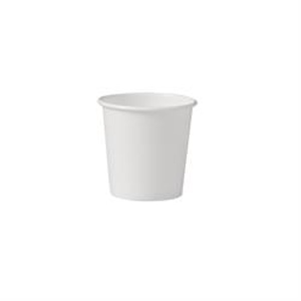 Image Of Drinking Cup Solo 4 oz White Polyethylene Coated Paper Disposable