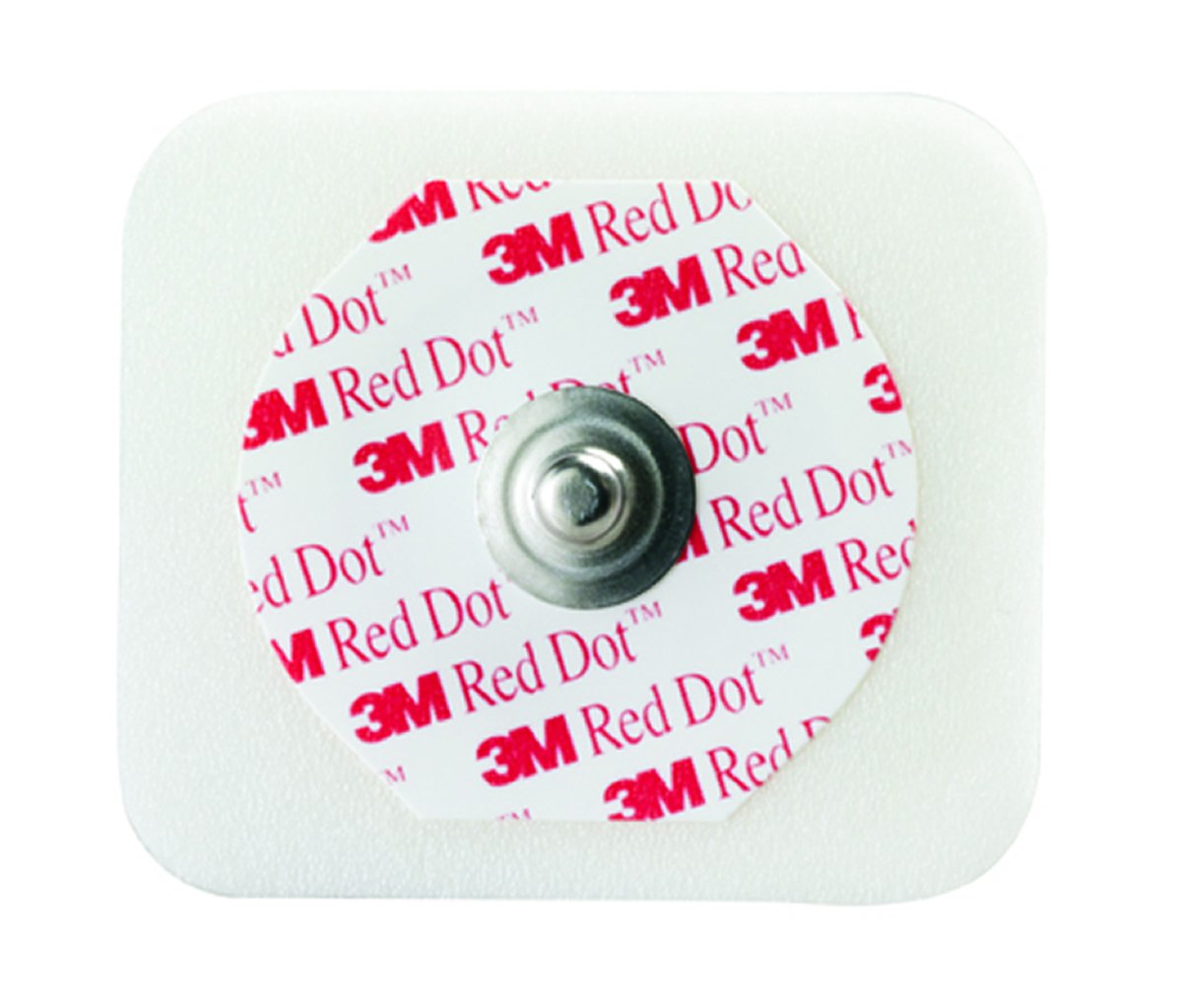 Image Of EKG Snap Electrode 3M Red Dot Monitoring Radiolucent 50 per Bag