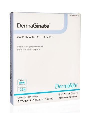 """Image Of DermaGinate Calcium Alginate Wound Dressing, 4.25"""" x 4.25"""""""