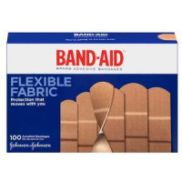 Image Of Band-Aid Flexible Fabric Assorted 100 ct.