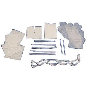 Image Of Trach Care Kit, Sterile, Gloves, Drape, Gauze,Tape