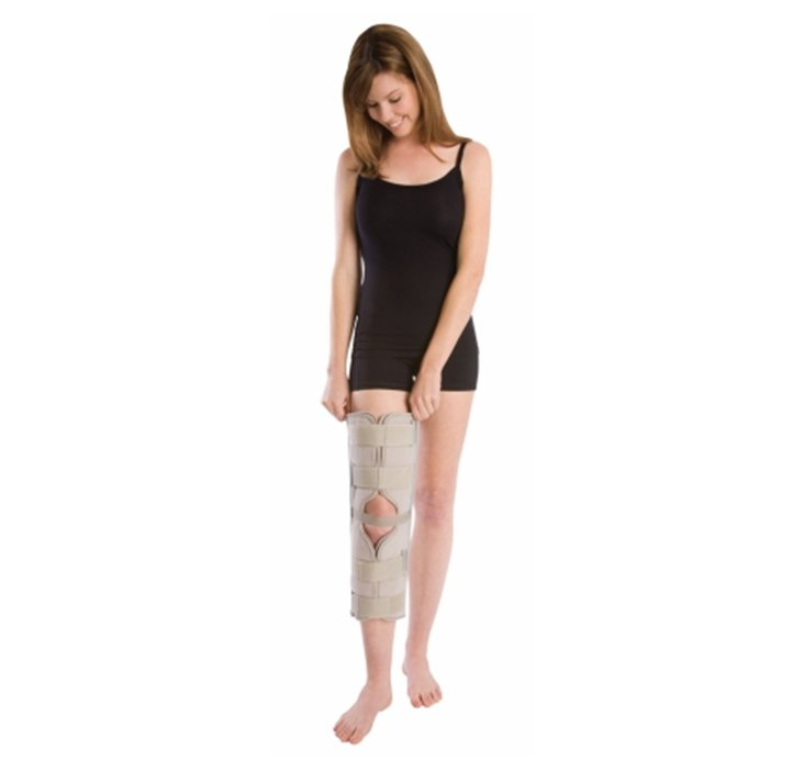 Image Of Knee Immobilizer PROCARE One Size Fits Most Hook and Loop Closure 20 Inch Length Left or Right Knee