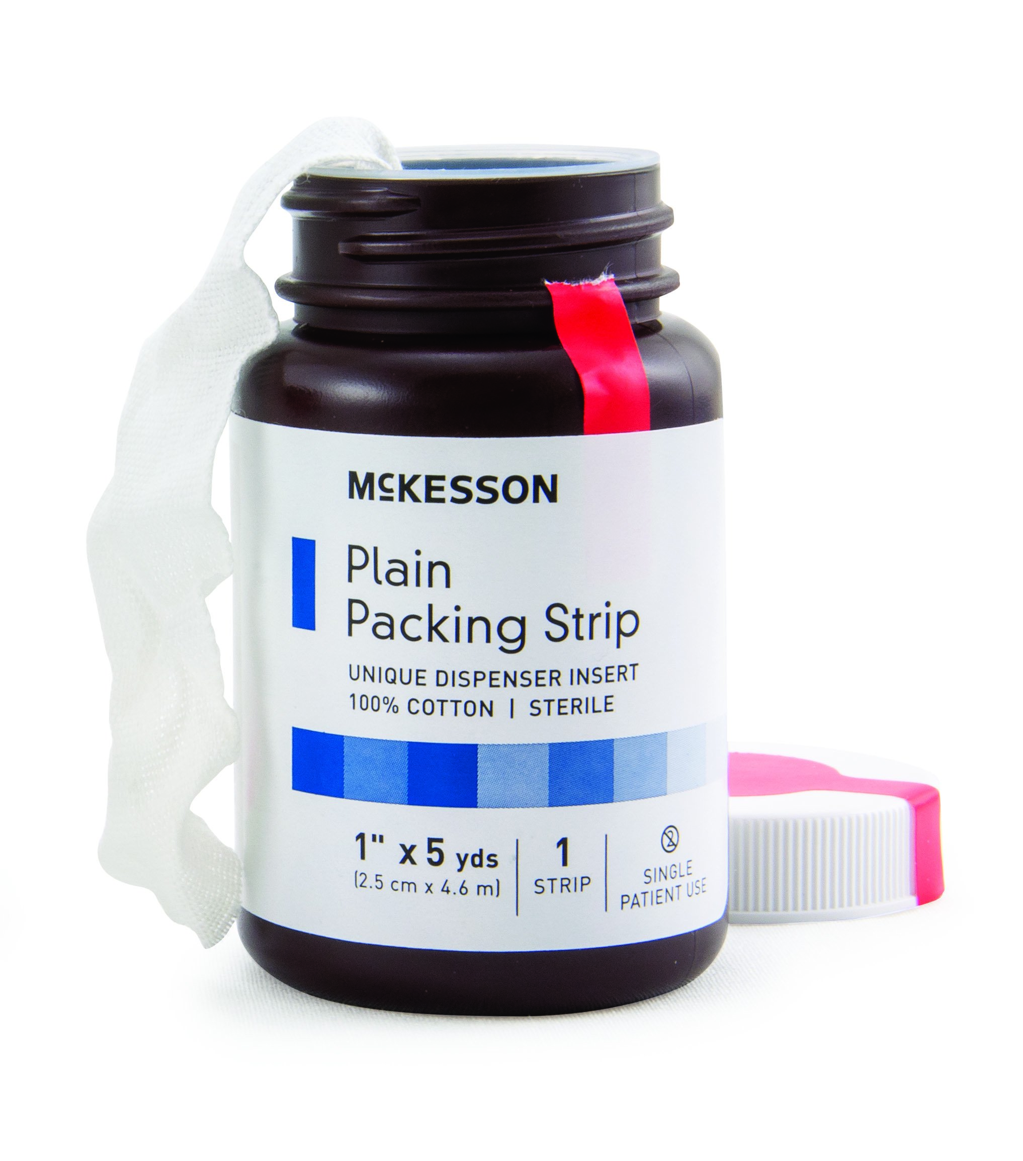 Image Of Wound Packing Strip McKesson Cotton Non-impregnated 1 Inch X 5 Yard Sterile