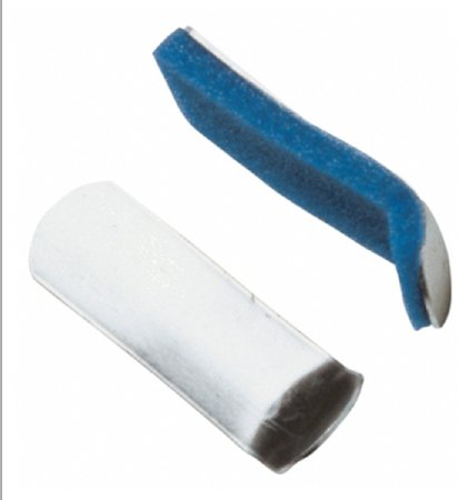 Image Of Finger Splint PROCARE Curved Padded Aluminum / Foam Left or Right Hand Silver / Blue Large