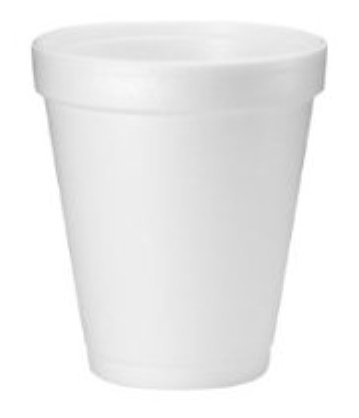Image Of Drinking Cup Dart 8 oz White Styrofoam Disposable