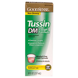 Image Of Tussin DM Cough Syrup for Children and Adults, 8 oz.