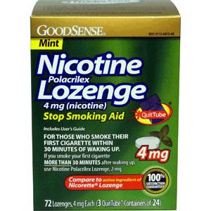 Image Of Nicotine Polacrilex Lozenge, 4 mg, Mint (72 Count)