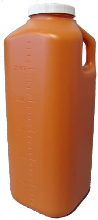 Image Of 24 Hour Urine Specimen Collection Container McKesson Polypropylene Screw Cap 3000 mL 101 oz NonSterile