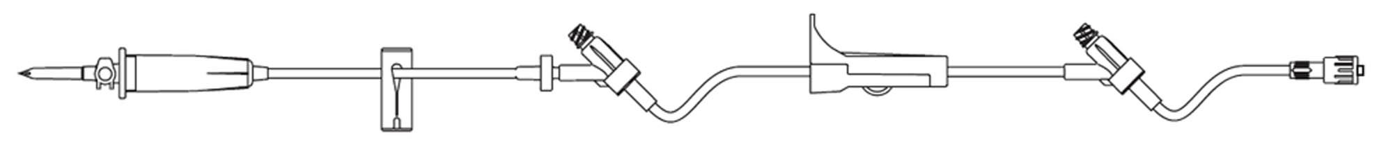Image Of Administration Set SafeDay 15 Drops / mL Drip Rate 106 Inch Tubing 2 Ports