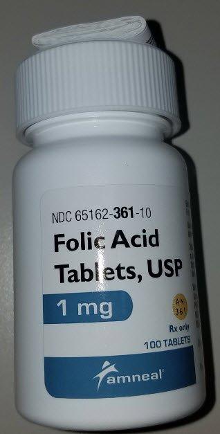 Image Of Vitamin B Complex Folic Acid 1 mg Tablet Bottle 100 Tablets