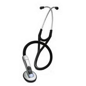 "Image Of 3M Healthcare Littmann Electronic Stethoscope, 27"" L, Black, Latex-free"