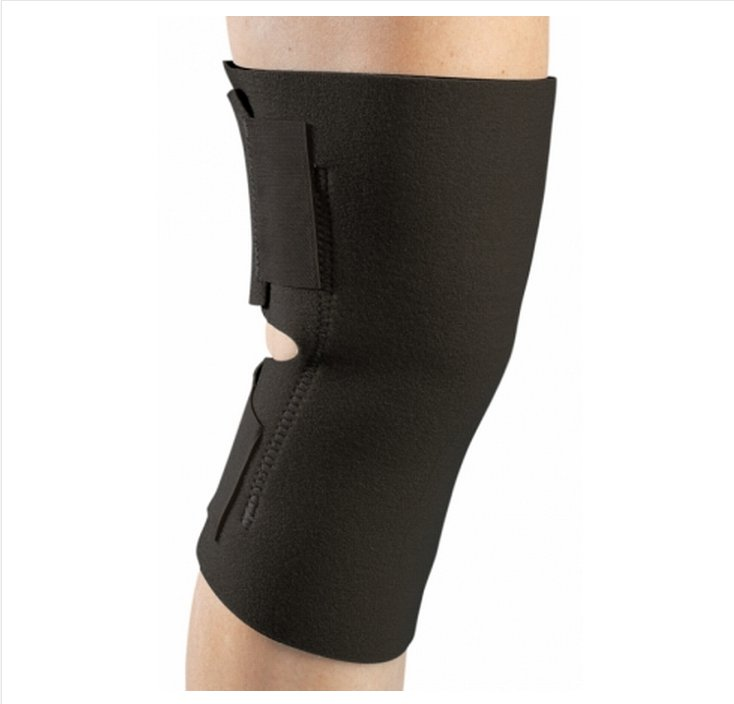 Image Of Knee Wrap PROCARE One Size Fits Most Wraparound / Hook and Loop Straps Left or Right Knee