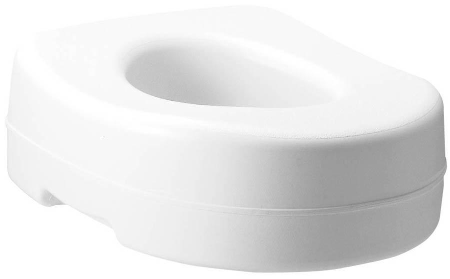 Image Of Raised Toilet Seat Carex Economy 5-1/2 Inch White 300 lbs